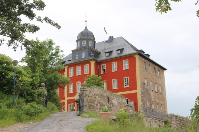 Die Zwischenstation: Schloss Brandenstein mit dem großartigen Cafe Cattarius.